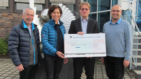 Received the donation cheque for 3,000 €
